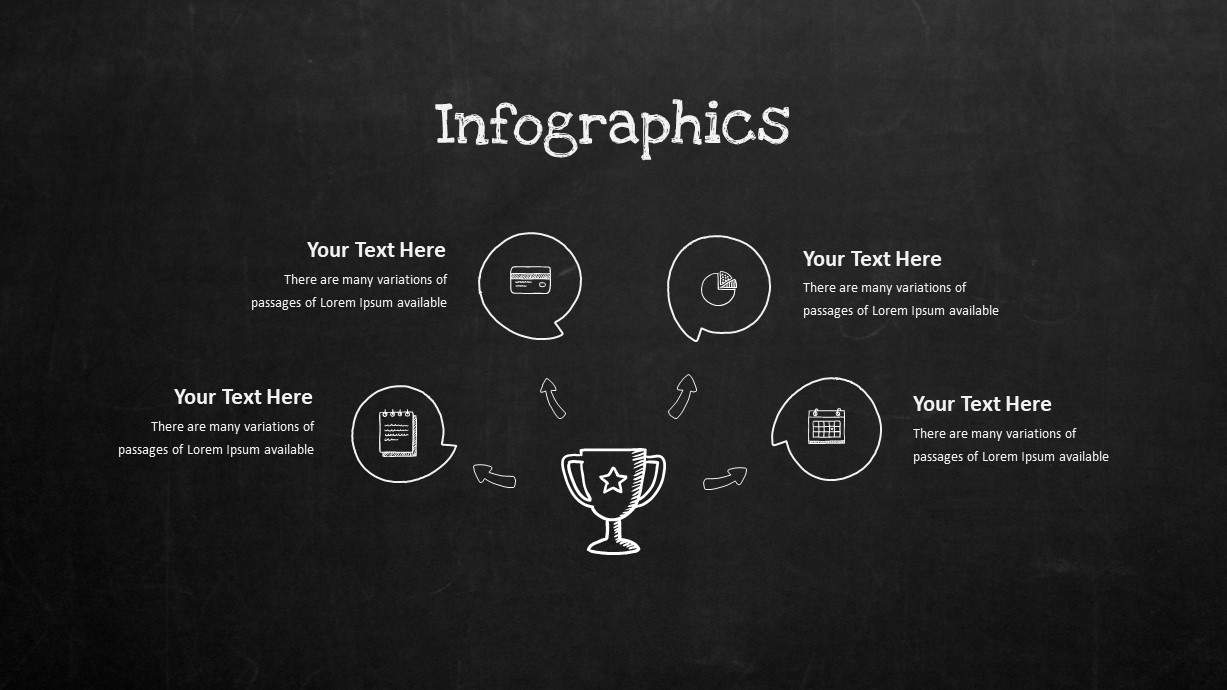 Blackboard Company Profile Infographic Success PowerPoint Template