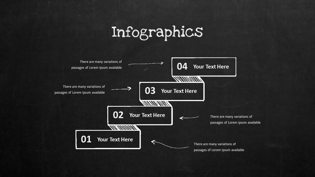 Blackboard Company Profile Infographic Steps Process PowerPoint Template