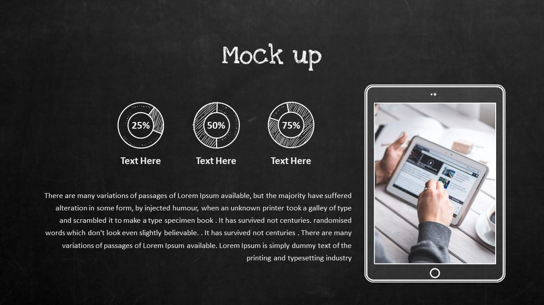 Blackboard Company Profile Tab Mockup PowerPoint Template