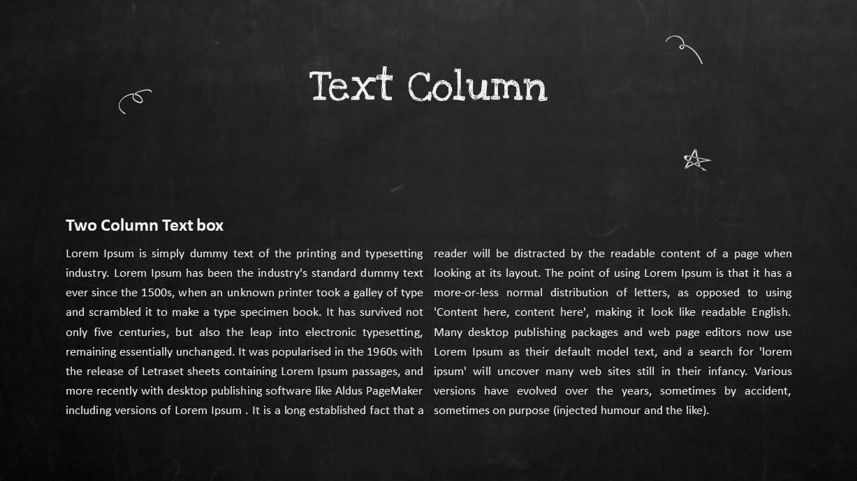 Blackboard Company Profile Text Column PowerPoint Template
