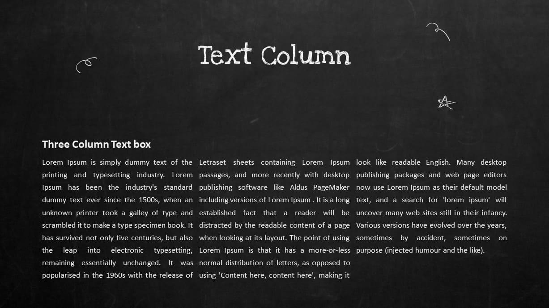 Blackboard Company Profile PowerPoint Text Column Template