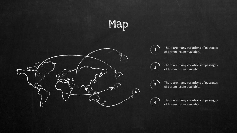 Blackboard Company Profile World Map PowerPoint Template