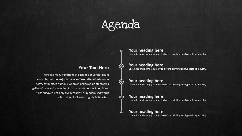 Blackboard PowerPoint Agenda Template