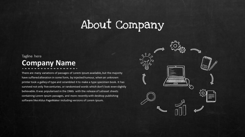 Blackboard PowerPoint Template About Company