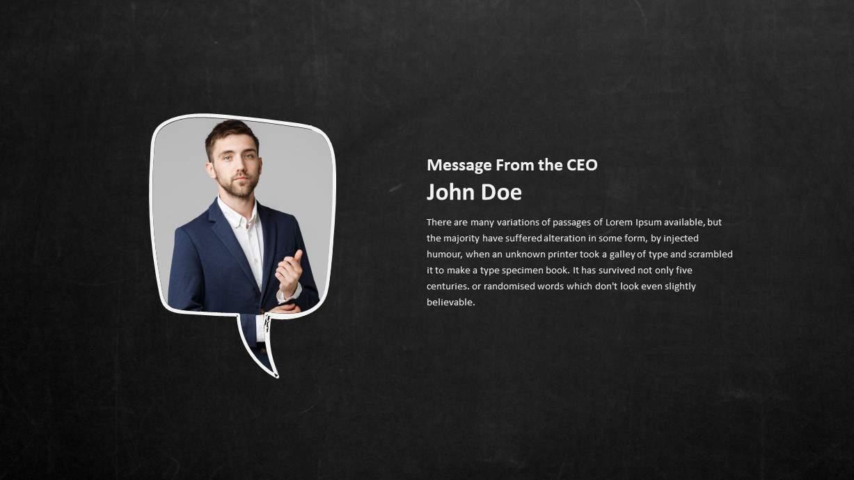 Blackboard PowerPoint Template Message