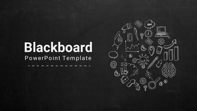 Blackboard PowerPoint Template for Company Profile Presentation
