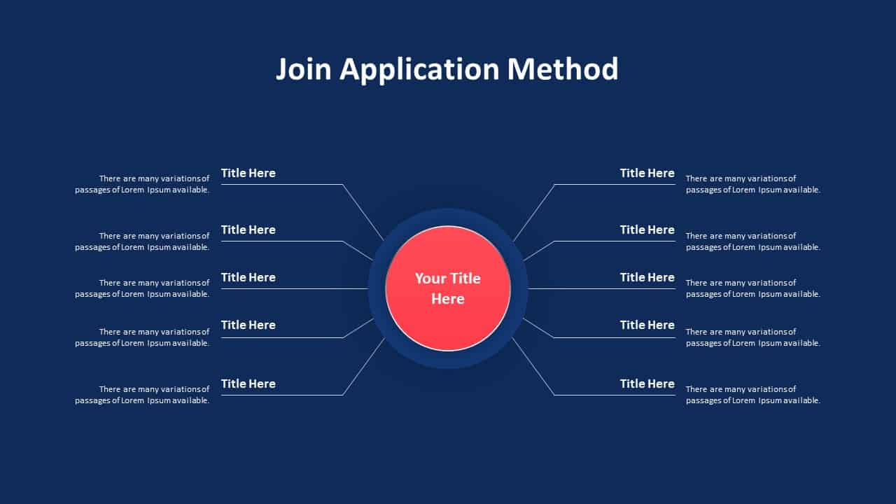 Join Application Method PowerPoint Template