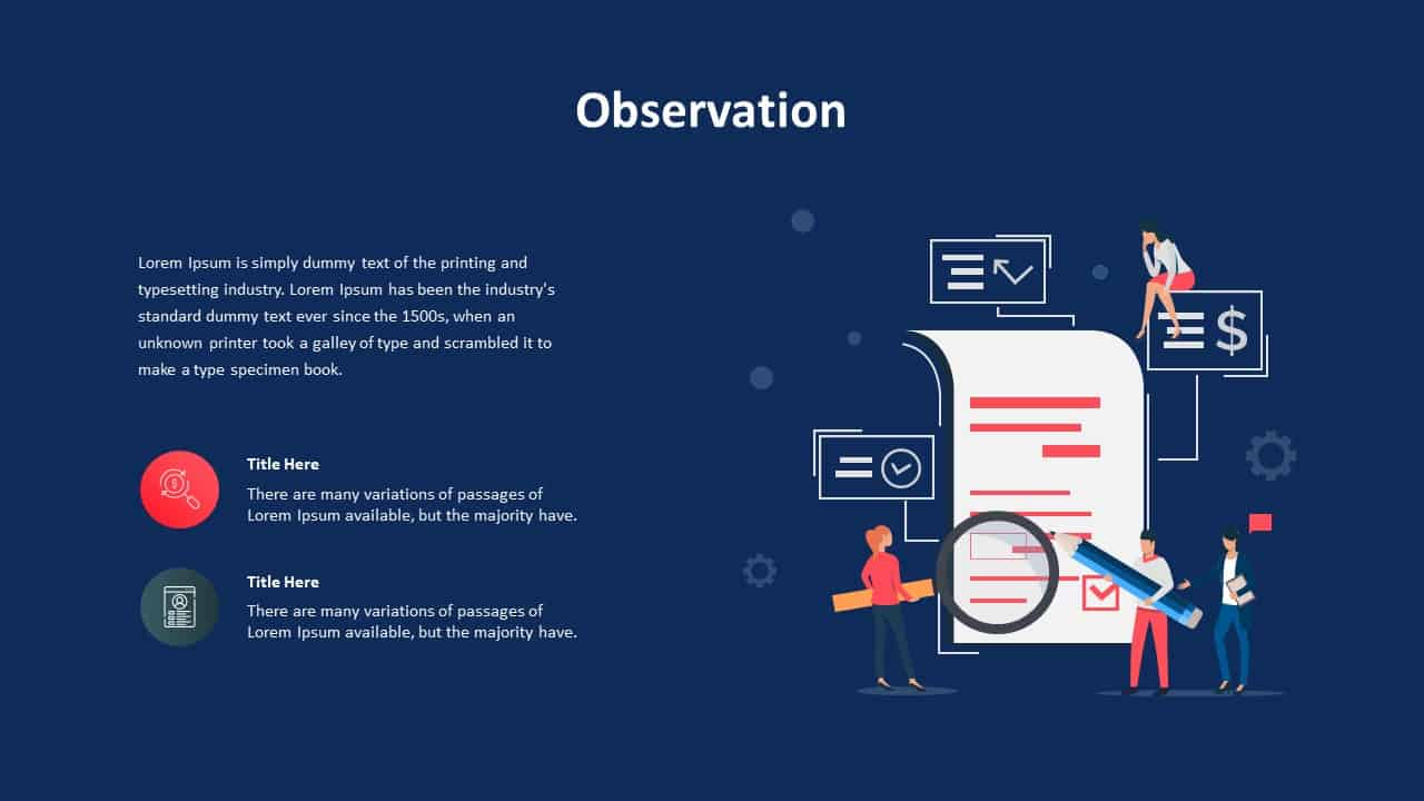 Requirements Analysis Ppt Observation Template