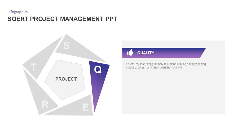 SQERT Project Management PowerPoint Diagram