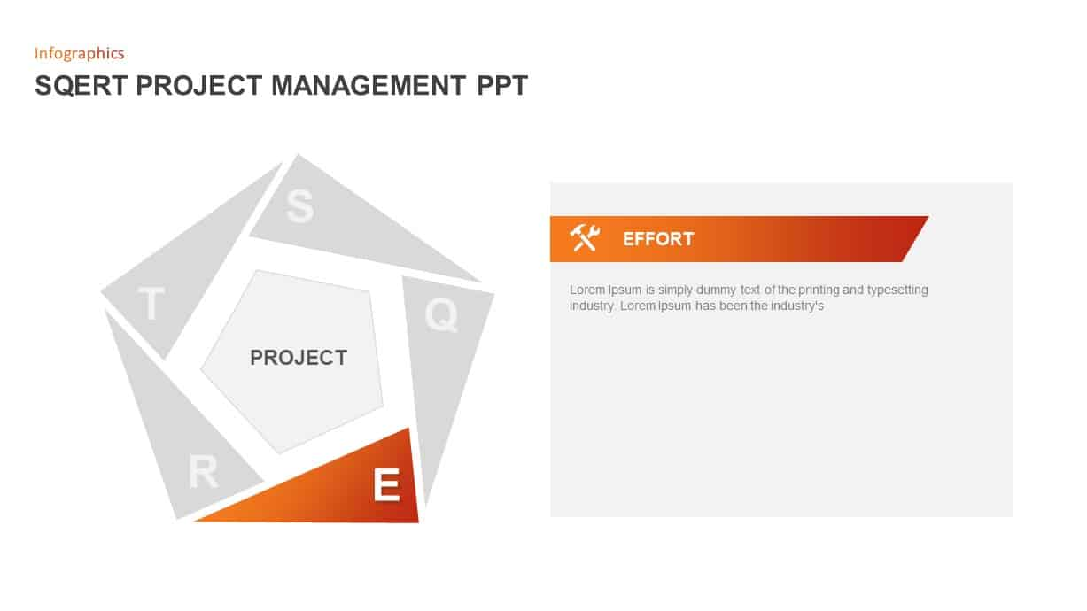 SQERT Project Management PowerPoint Slide