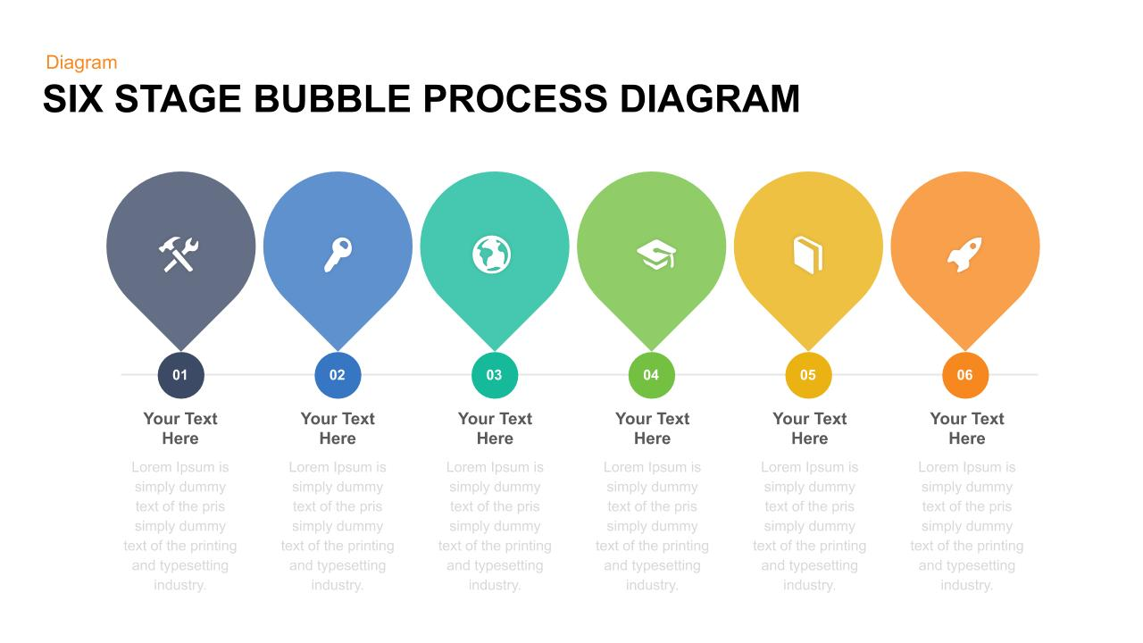 six-stage-bubble-process-diagram-Google Slides Theme