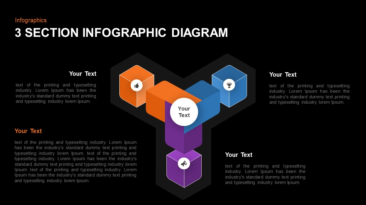 3 Section Infographic template