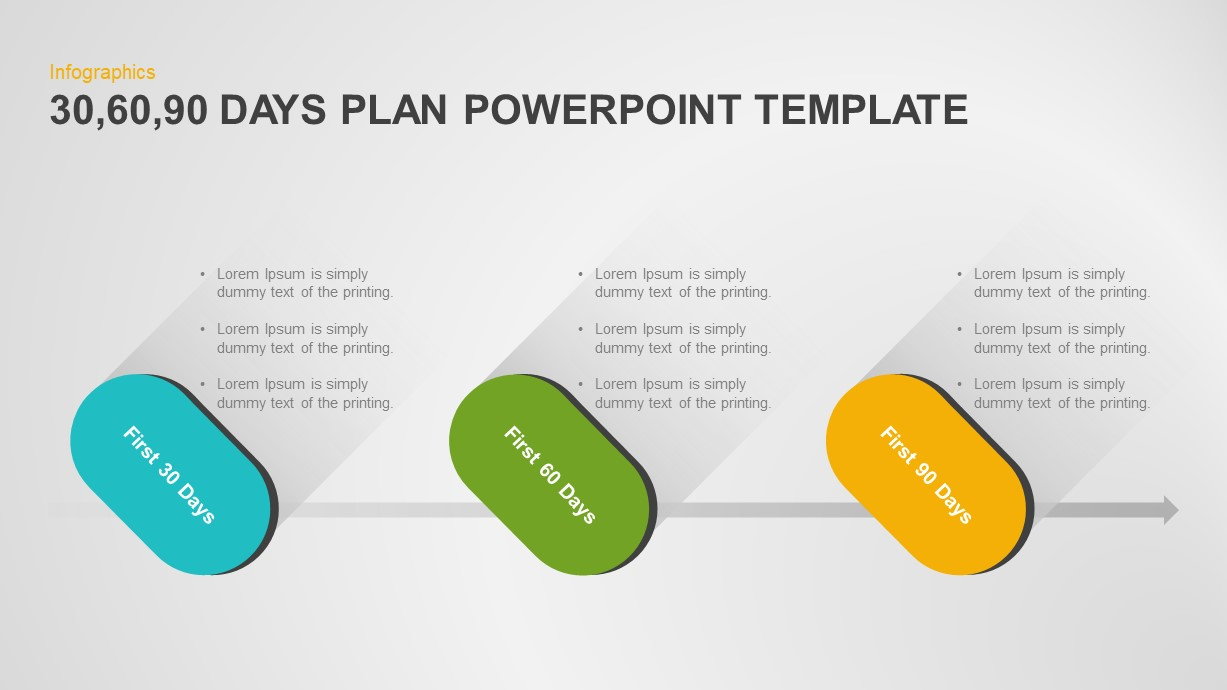 30 60 90 Day Plan Ppt Template