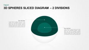 3D Spheres Sliced Diagram for PowerPoint Presentation