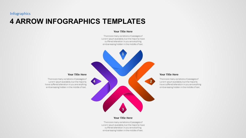 4 arrow infographic template