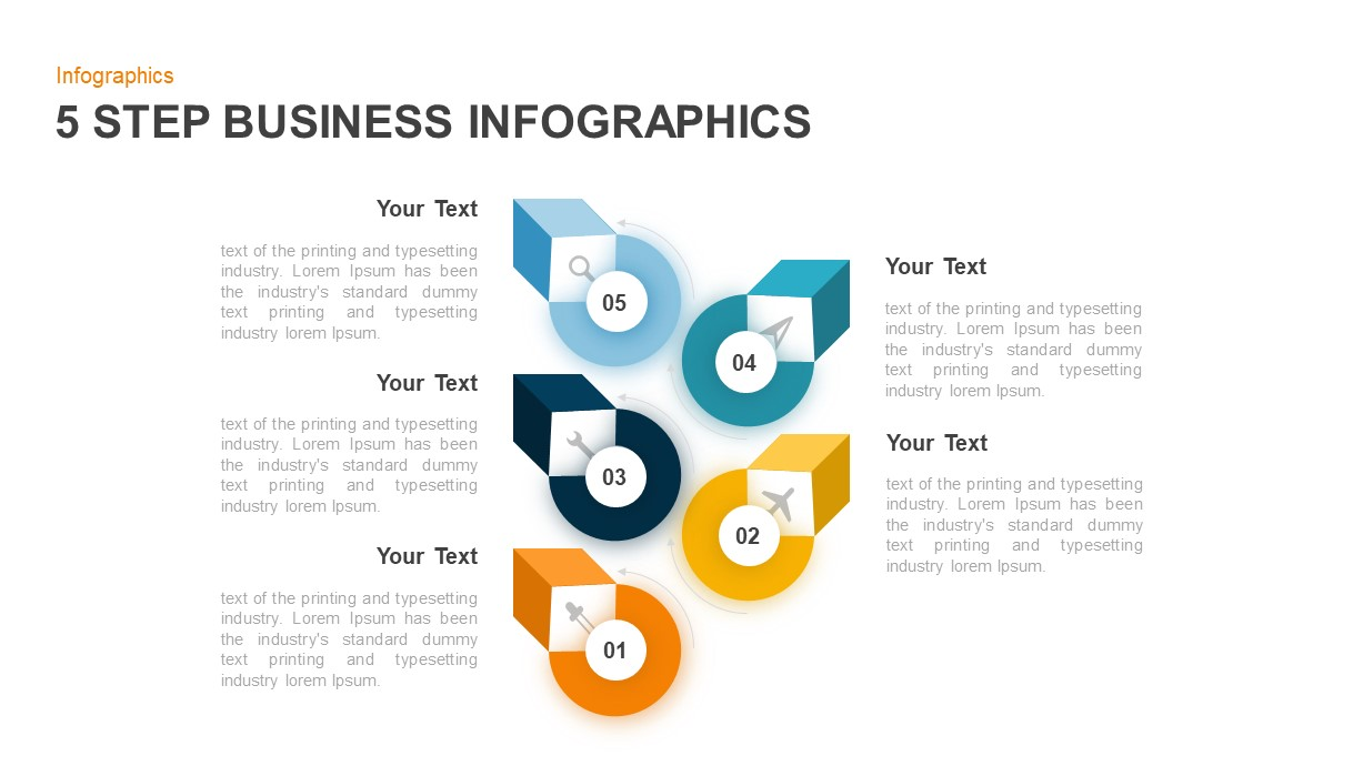 5 Step Infographic Template for Business Presentation