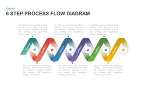 6 Step Process Flow Diagram Template