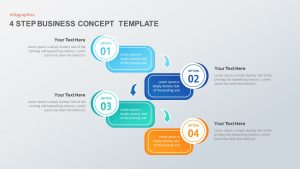 4 Step Business Concept Diagram for PowerPoint