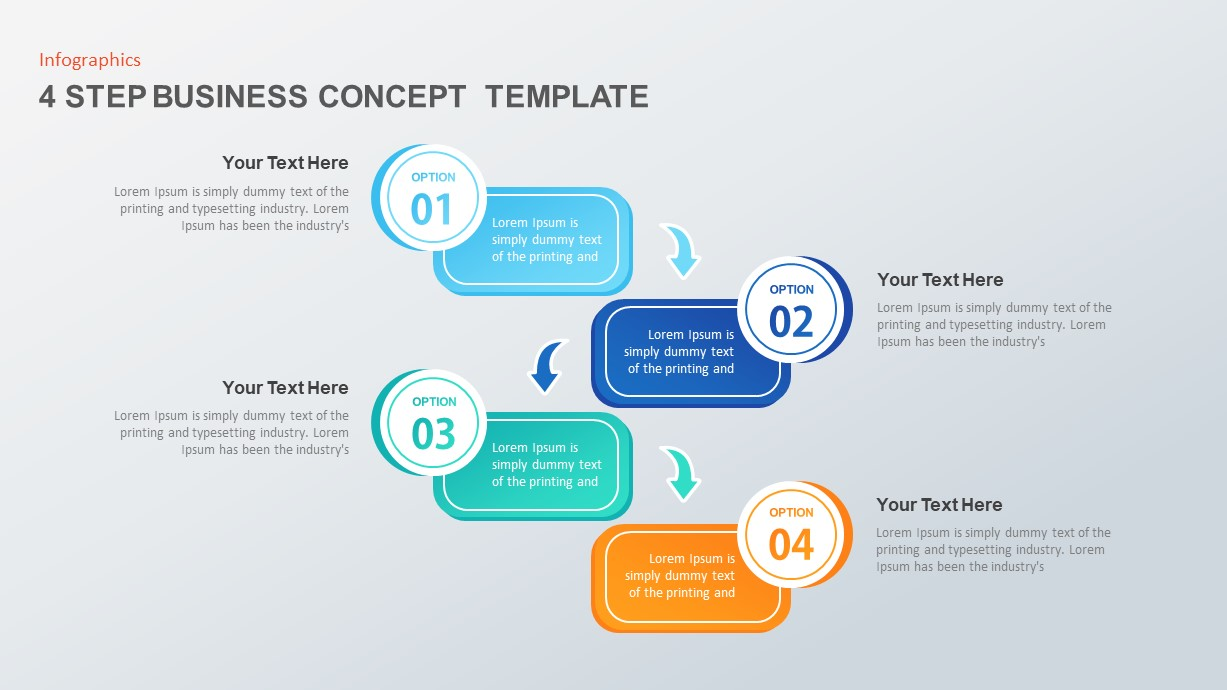 4 Step Business Concept PowerPoint Template