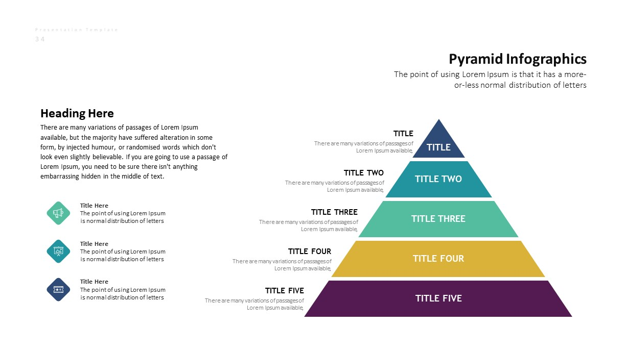 Corporate Business PowerPoint Presentation Pyramid Template
