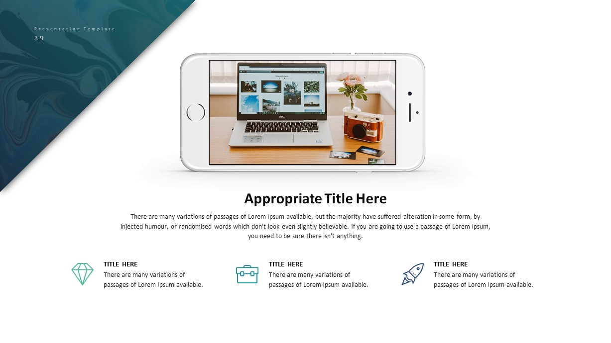 Corporate Business PowerPoint Presentation Smartphone Template