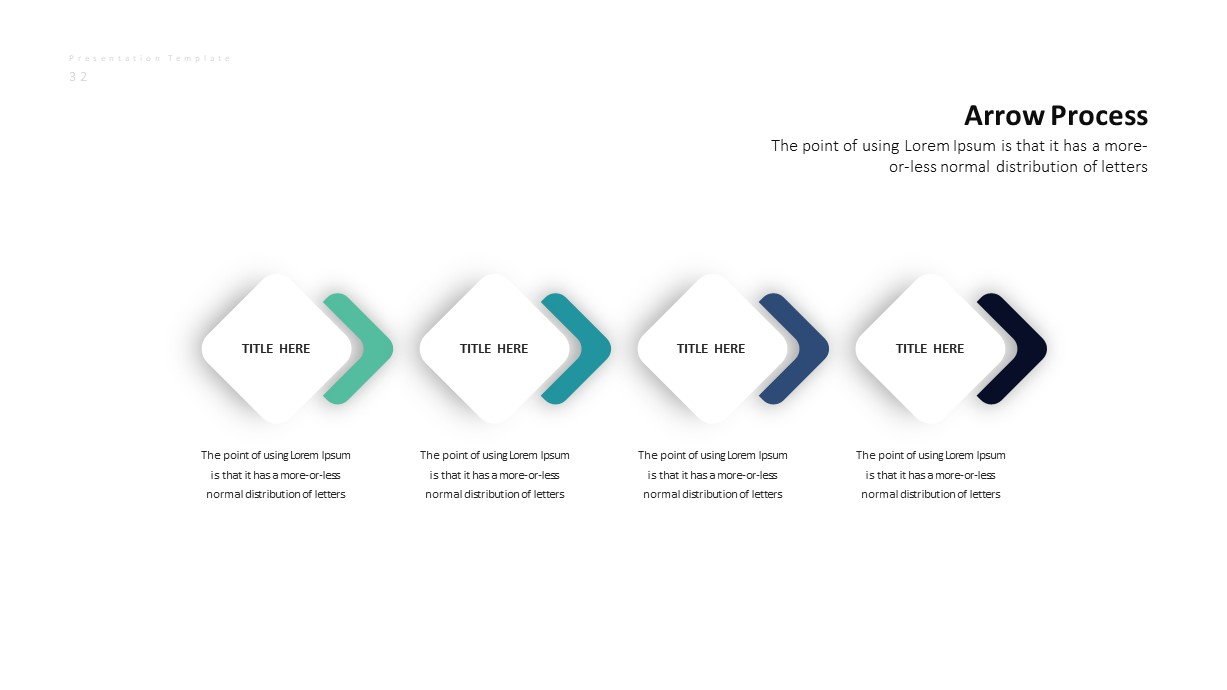 Corporate Business PowerPoint Presentation Arrow Process Template