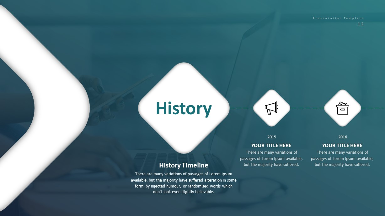 Corporate Business PowerPoint Presentation History Template