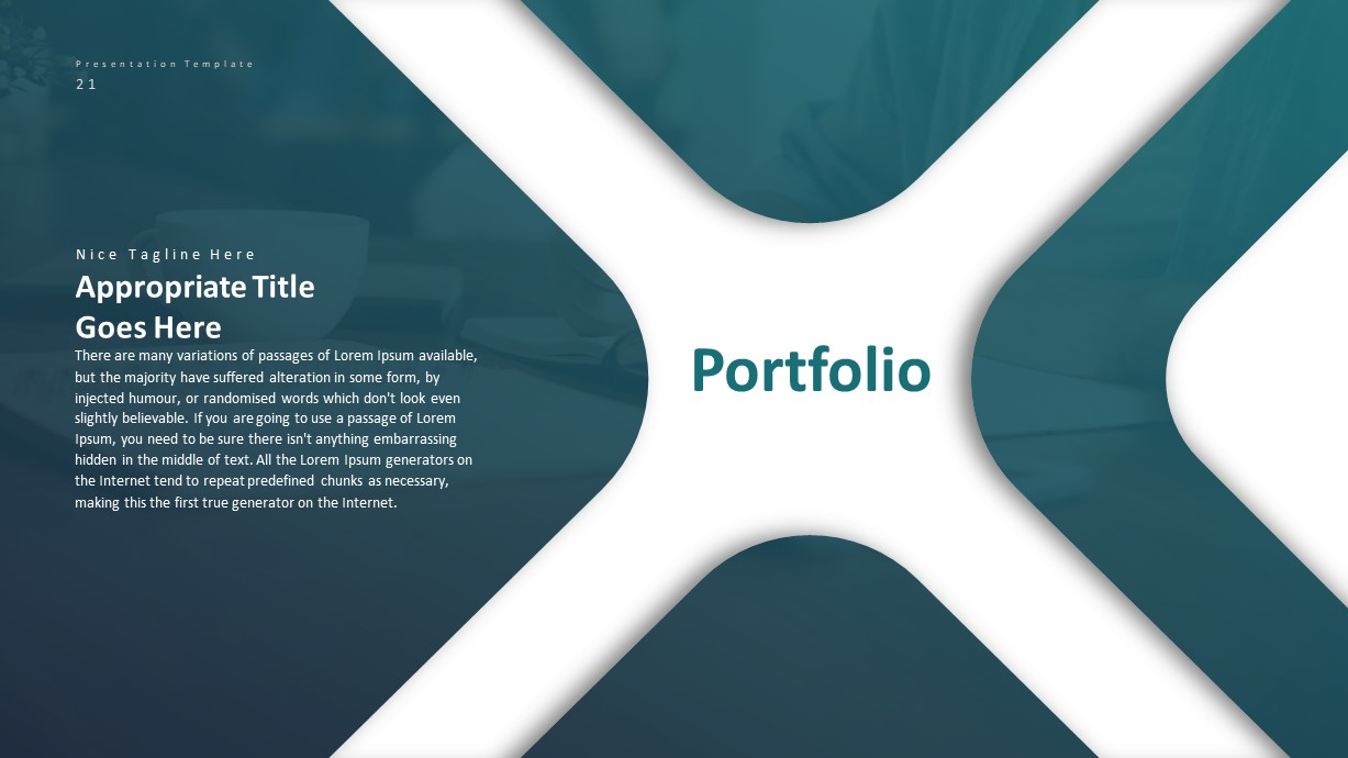 Corporate Business PowerPoint Presentation Portfolio Template