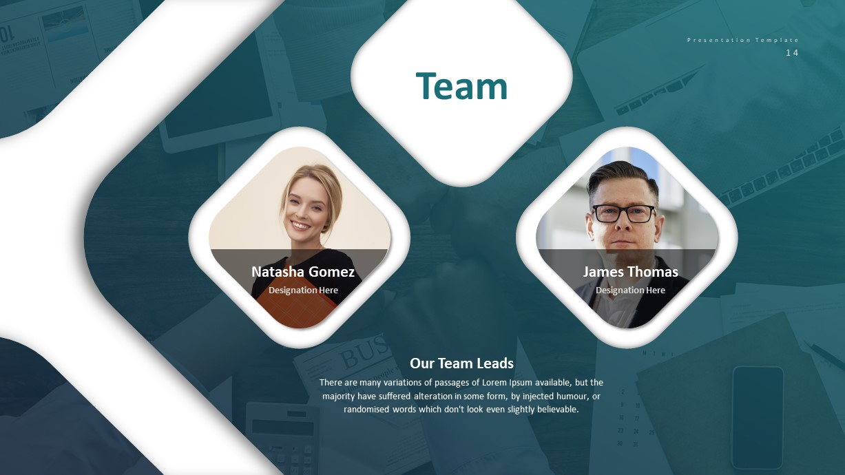 Corporate Business PowerPoint Presentation Team Template