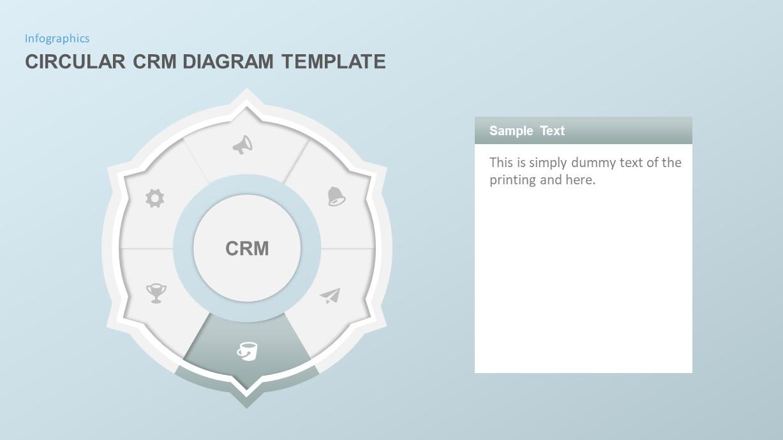 Circular CRM PowerPoint Template