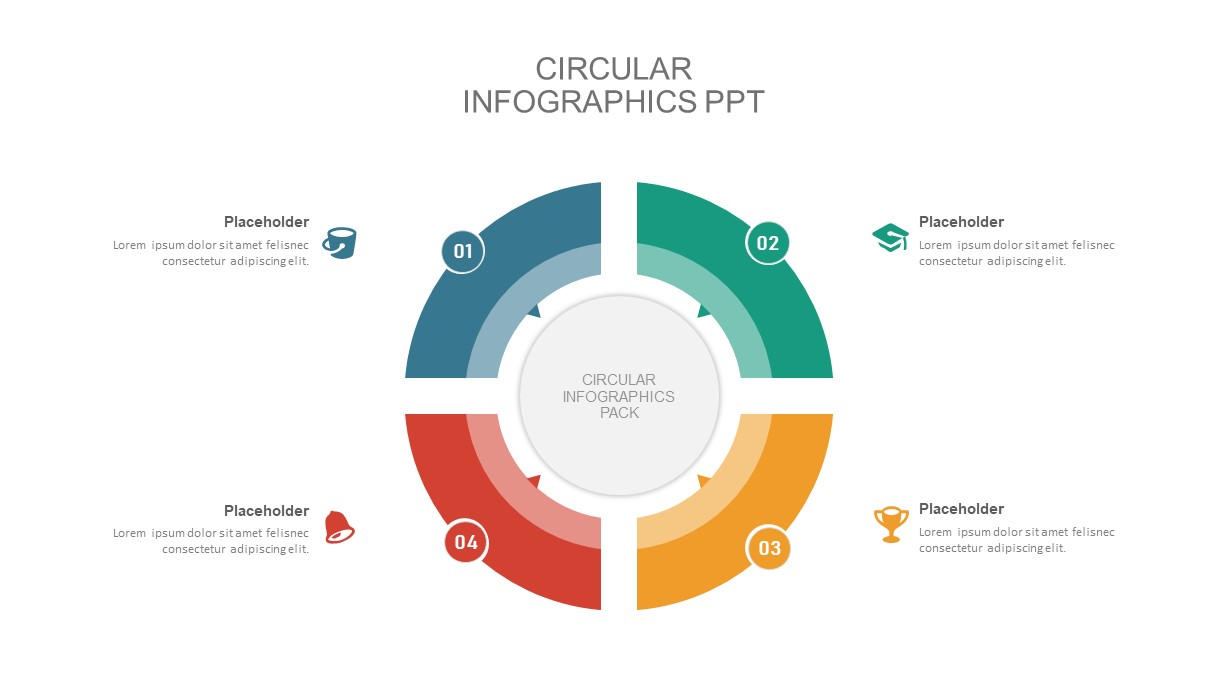 Circular diagram infographic template