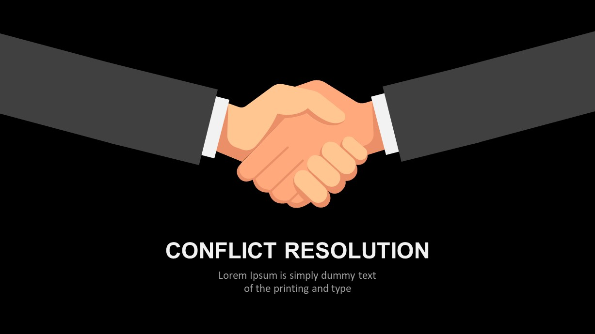 Conflict Resolution PowerPoint Diagram