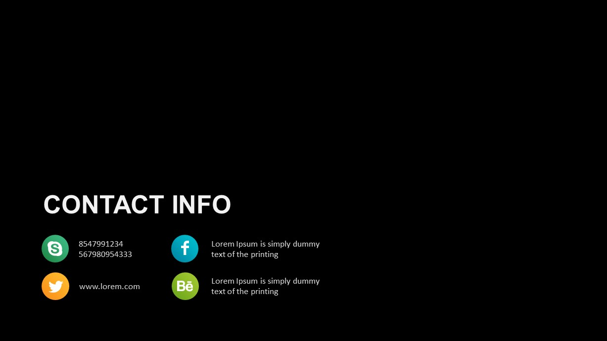 Healthcare Industry Contact Info Template
