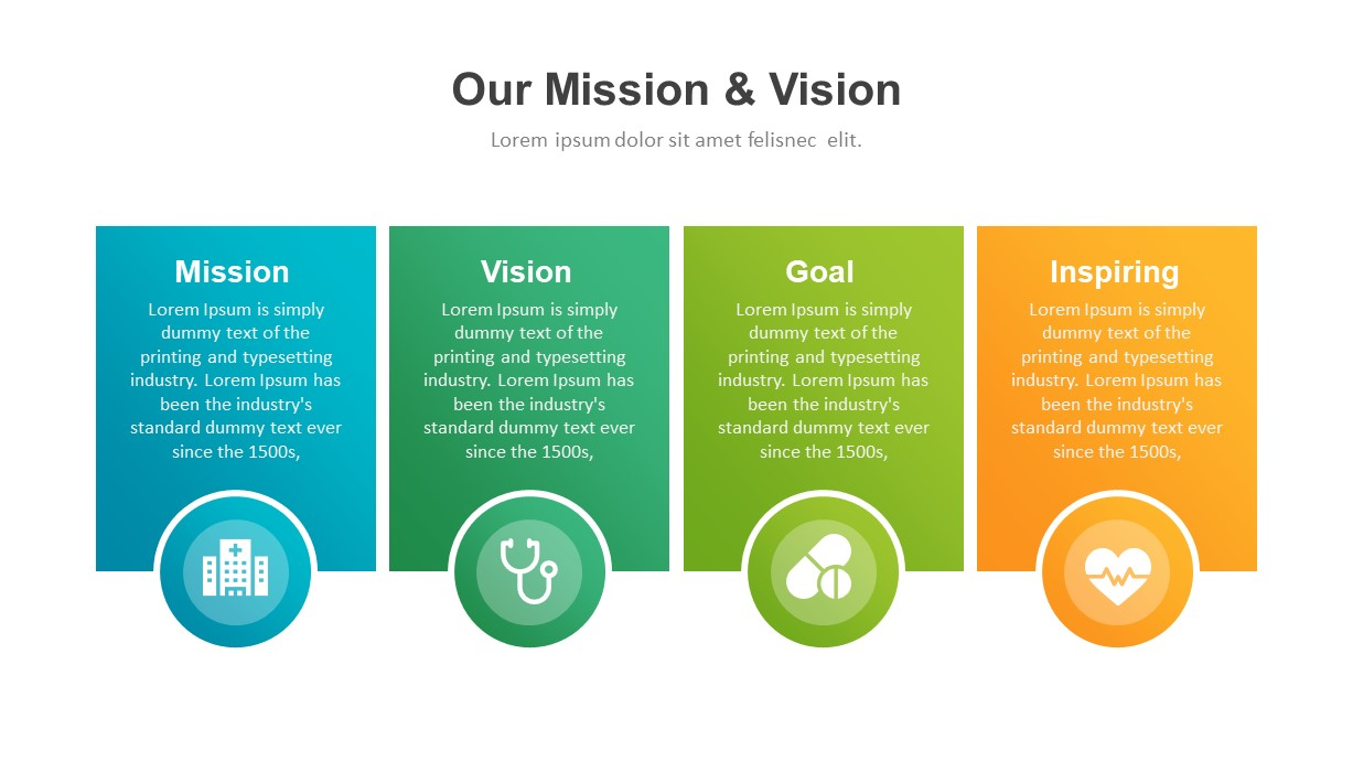 Healthcare Industry PowerPoint Template Mission Vision