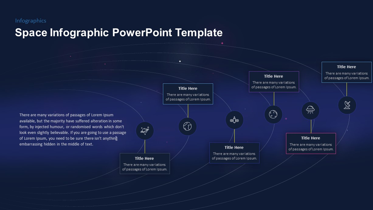Infographic Space PowerPoint Template