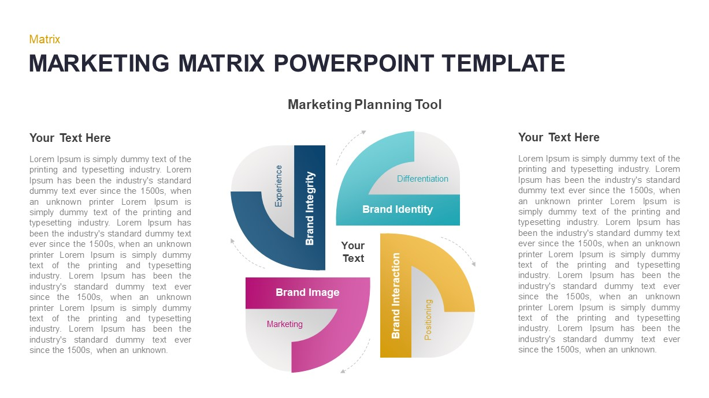 Marketing Matrix PowerPoint Template
