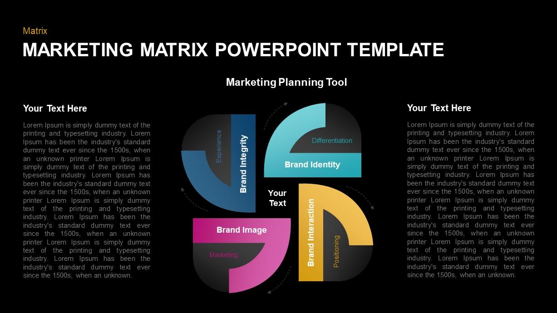 Marketing Matrix Template