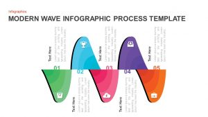 Modern Wave Infographic Process Template
