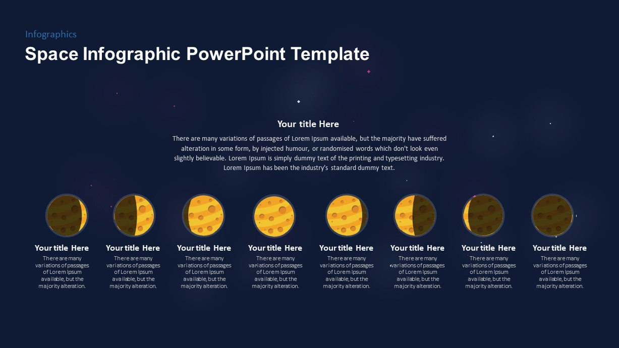 Phases of the Moon PowerPoint Diagram