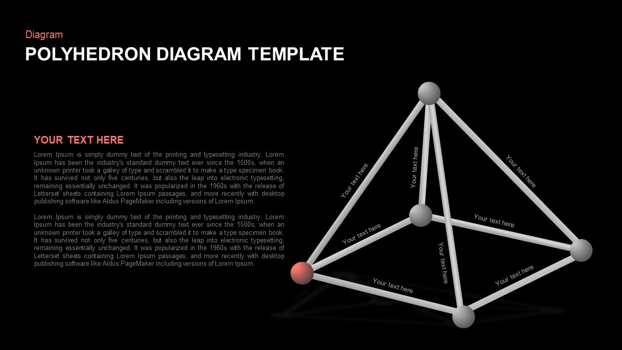 Polyhedron Diagram PowerPoint Template