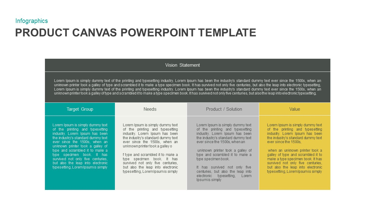 Product Canvas PowerPoint Template