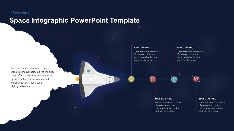 Space Rocket Timeline PowerPoint Template