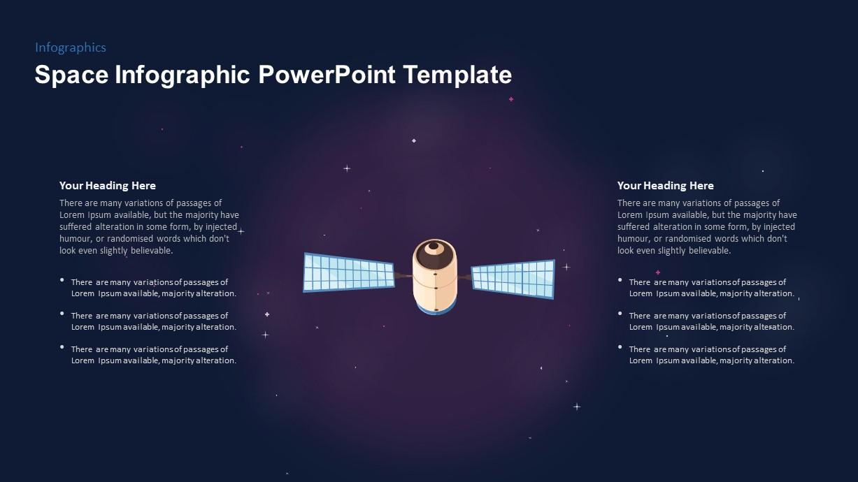 Satellite PowerPoint Template Diagram