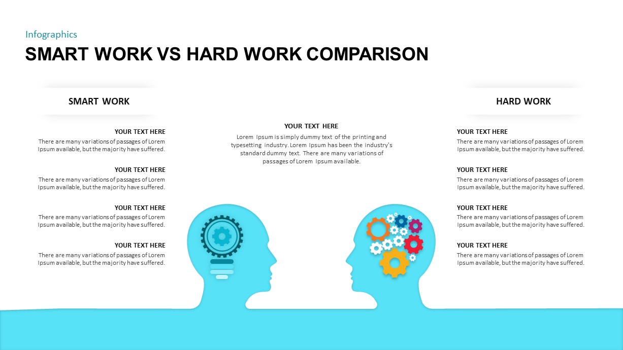 Smart Work VS Hard Work Comparison Template for PowerPoint Presentation