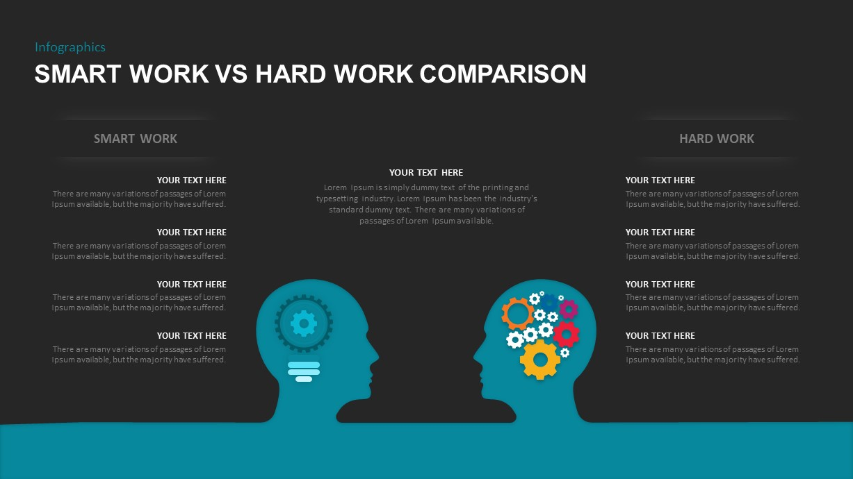 Smart work and hard work PowerPoint Template