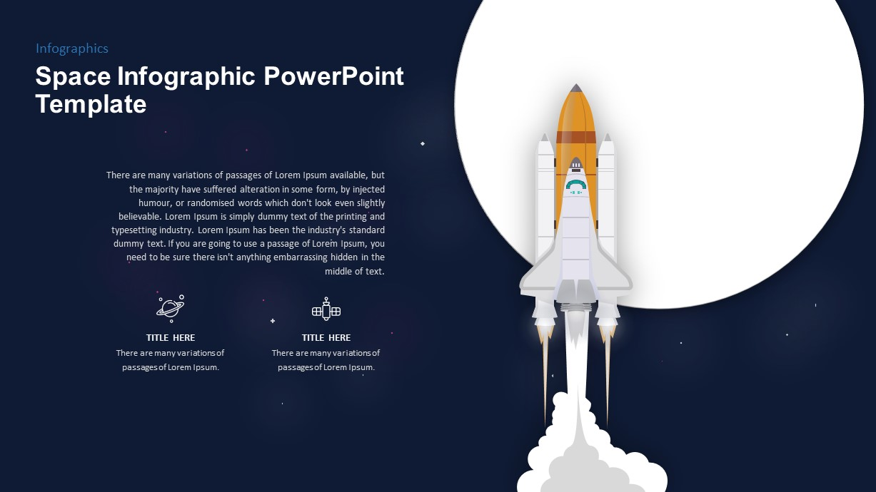 Space Infographic Rocket Launch PowerPoint Template