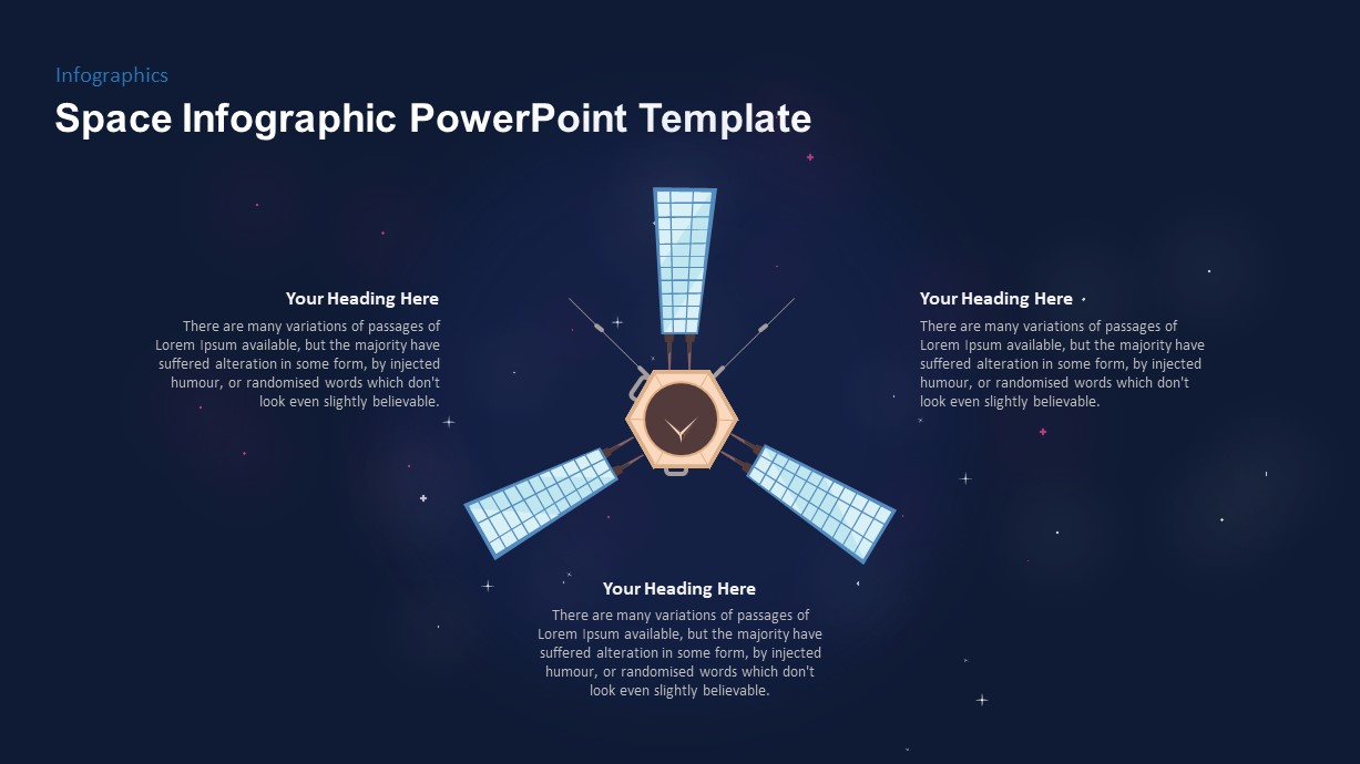 Space Infographic Satellite PowerPoint Template