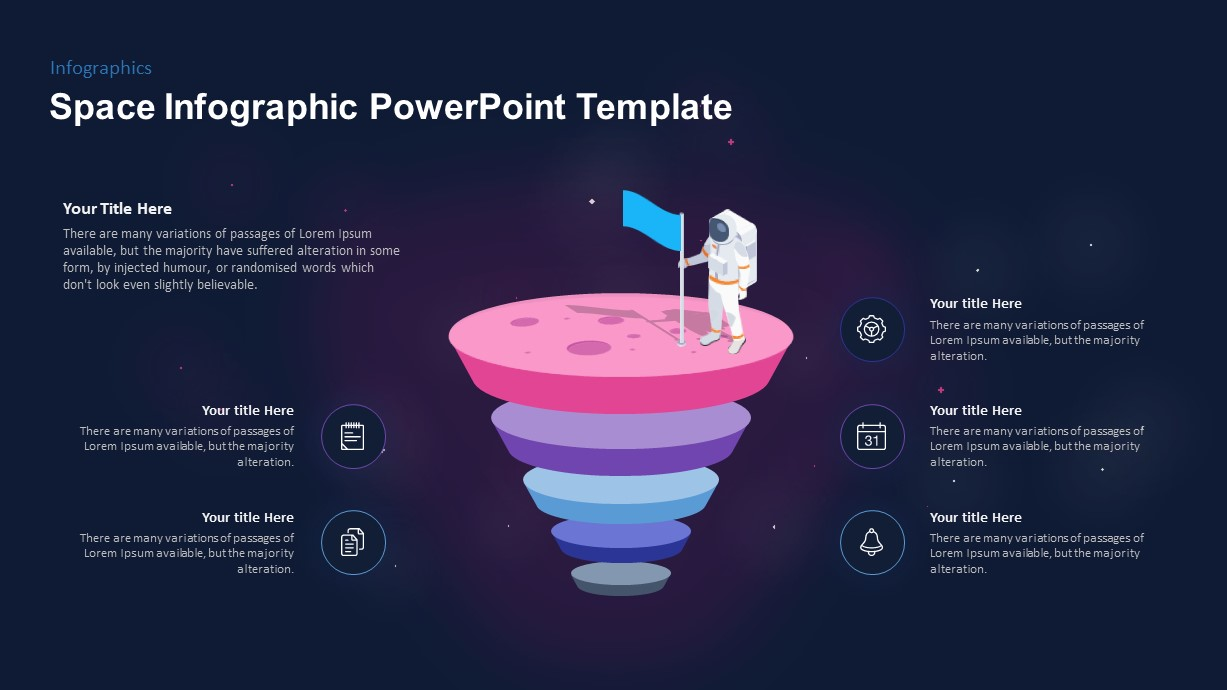 Space Infographic Template for PowerPoint