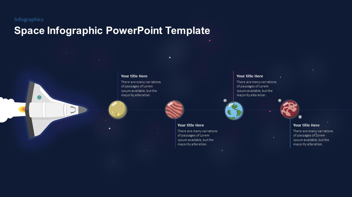 Space Shuttle Timeline PowerPoint Template