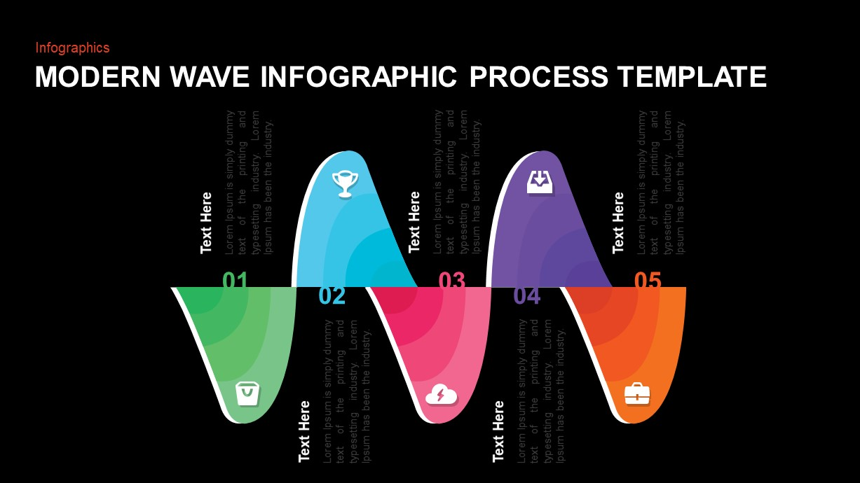 Wave Process PowerPoint Template
